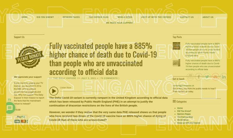 """Els vacunats no tenen """"un 885% més probabilitat de morir"""" per la variant delta que els no vacunats"""