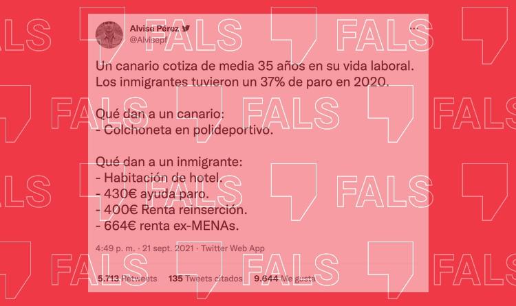 Les dades falses sobre les ajudes que reben els immigrants a Canàries