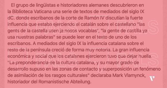 Captura del missatge que circula WhatsApp afirmant que la Universitat de Friburg ha publicat un estudi demostrant que el castellà és un dialecte del català