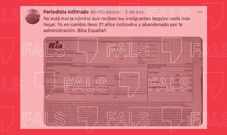 Els immigrants que arriben a Espanya sense papers no reben una ajuda de 1.000 euros
