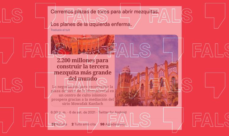 Barcelona no es planteja construir una gran mesquita a la Monumental