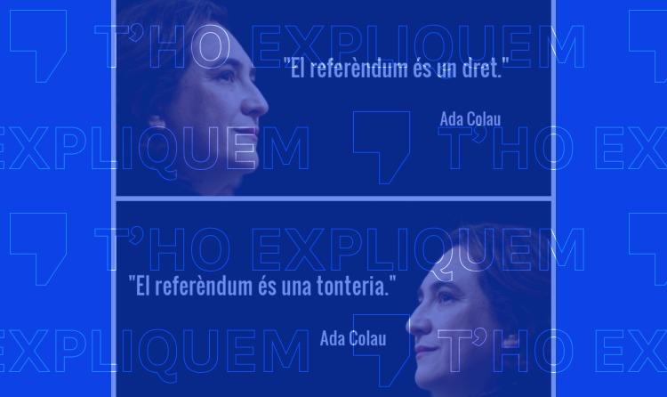 """El que va dir Colau sobre un referèndum a Catalunya i les """"tonteries"""""""