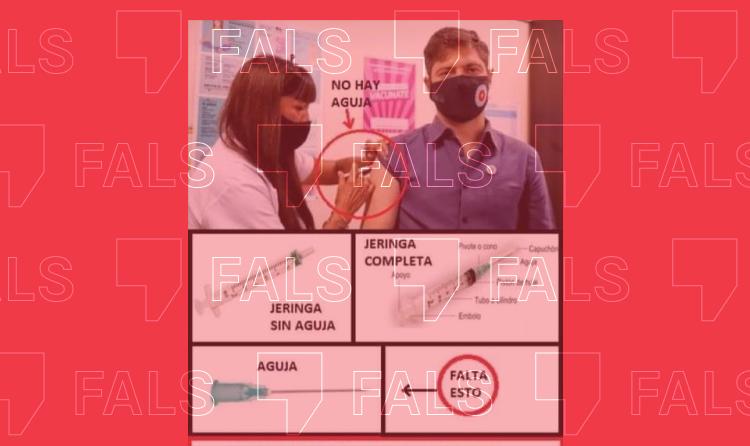 És fals que es facin servir xeringues sense agulla per fingir que es posa la vacuna contra la Covid-19