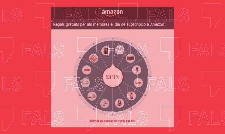 Nou cas de phishing: Amazon no organitza un concurs amb regals pels seus membres