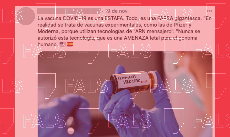 Las vacunas de ARN mensajero no modifican el ADN ni amenazan el genoma humano