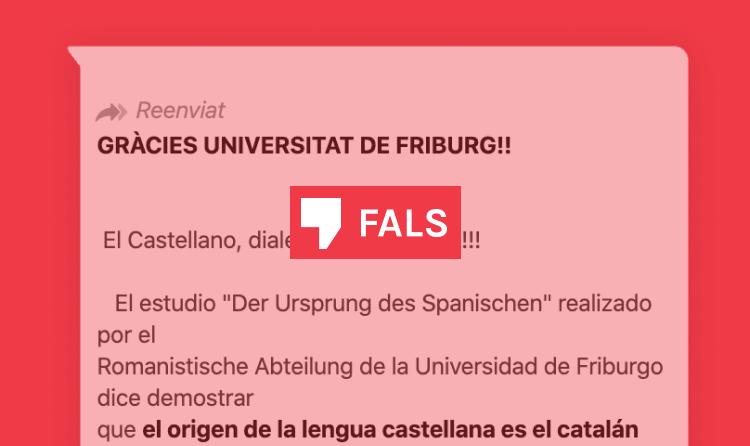 La Universitat de Friburg no ha publicat cap estudi que digui que el castellà és dialecte del català