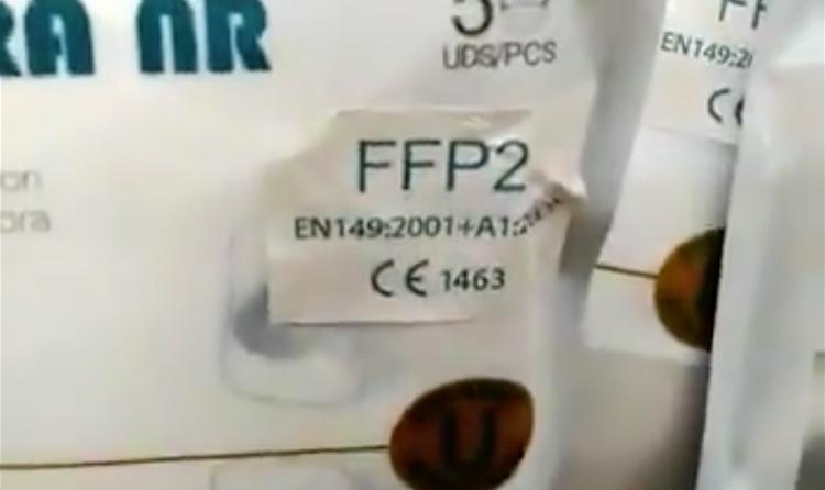 ¿Por qué hay mascarillas NK95 con un adhesivo que dice FFP2?