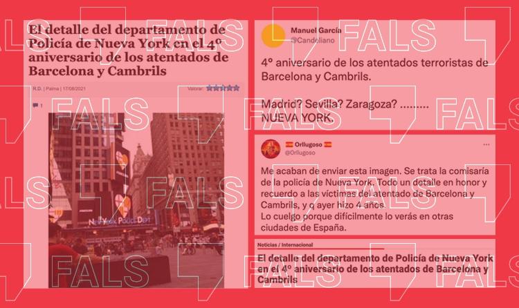 La policia de Nova York no ha il·luminat el seu edifici amb l'escut de Barcelona pel quart aniversari dels atemptats