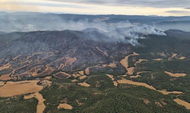 ¿Qué sabemos del incendio de Santa Coloma de Queralt y del parque eólico de la empresa del exyerno de Florentino Pérez?