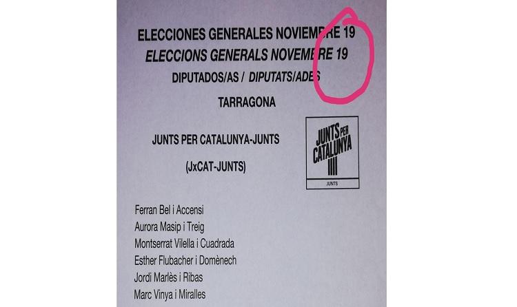És fals que les paperetes electorals amb el número 19 es considerin nul•les