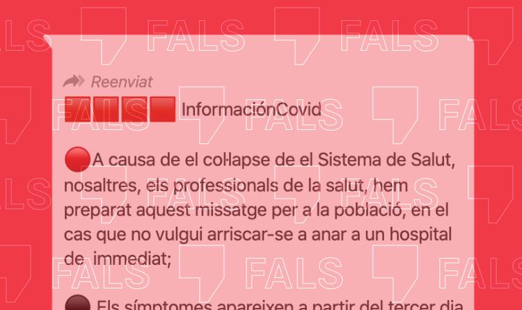 El Col·legi de Metges desmenteix un missatge viral amb consells falsos contra la Covid-19