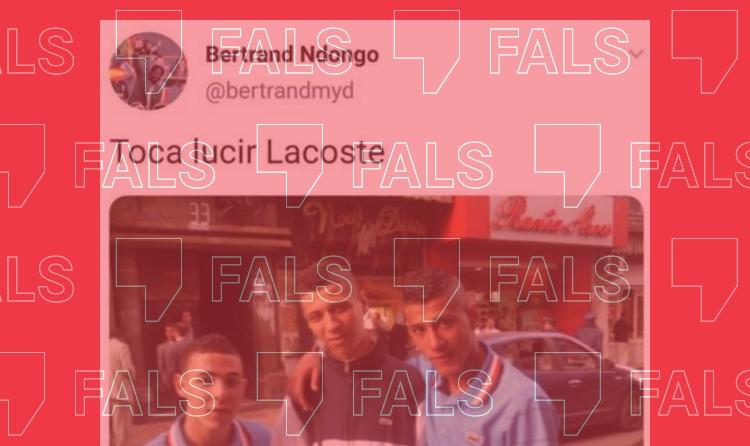 La foto de tres nois amb samarretes Lacoste no té cap relació amb el saqueig d'una botiga