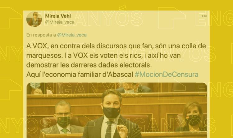 És cert que a Vox el voten els rics, com diu Mireia Vehí?