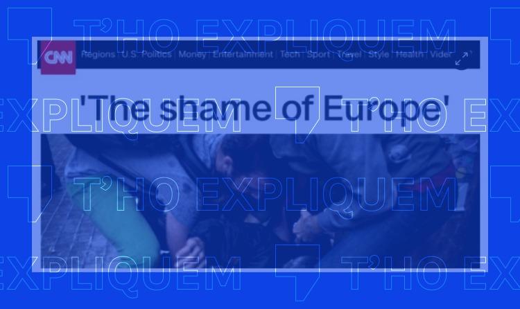 """Ens pregunteu per una captura de pantalla de la CNN amb el titular """"la vergonya d'Europa"""" durant el referèndum de l'1 d'octubre"""