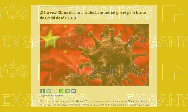 """China no ha declarado """"la alerta mundial"""" por un brote de covid"""