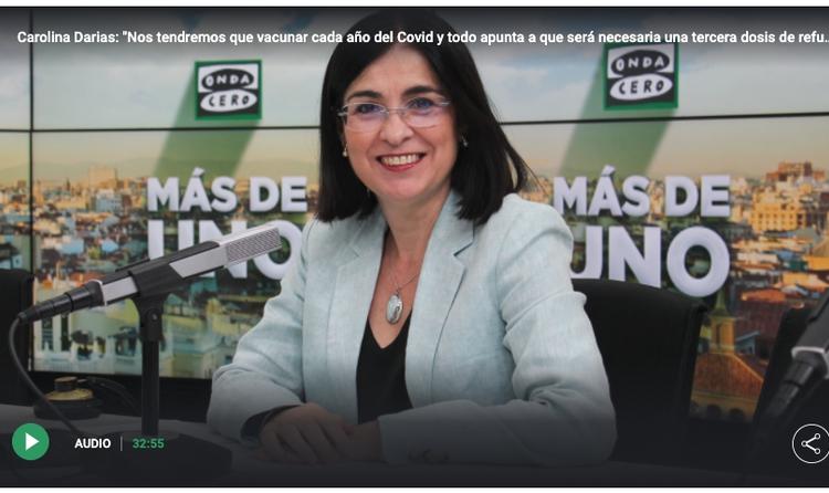 """Es pronto para afirmar que """"sin duda"""" habrá que vacunarse cada año contra la covid-19, como dice la ministra española de Sanidad"""