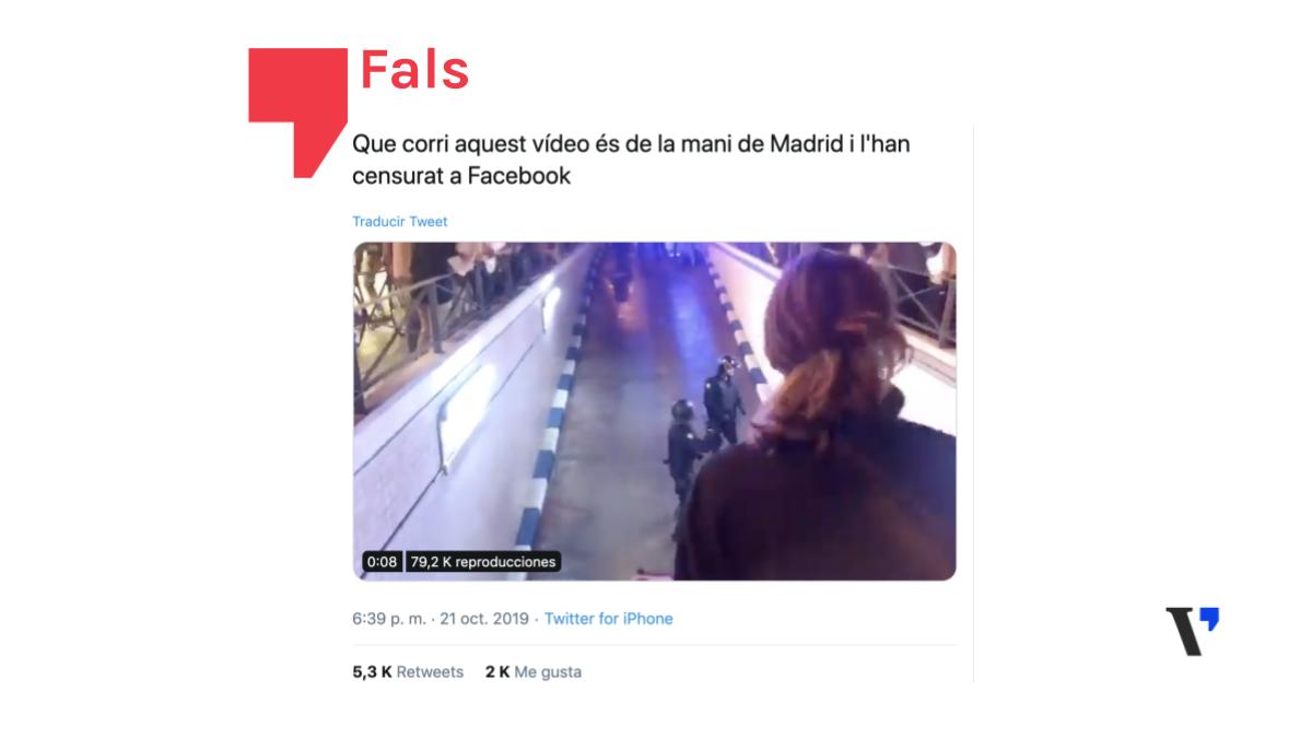 Aquestes imatges de càrregues policials suposadament censurades no són de Madrid, són del 18-O a València