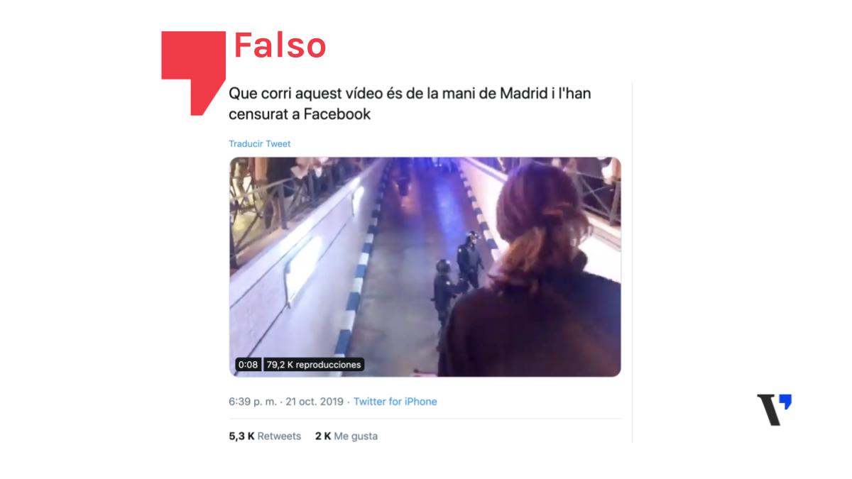 Estas imágenes de cargas policiales supuestamente censuradas no son de Madrid. Son del 18-O en Valencia
