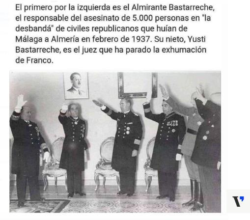 És veritat que el jutge que va frenar l'exhumació de Franco és net d'un militar franquista