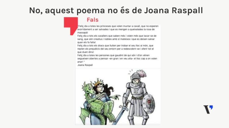 Aquest poema de St. Jordi no és de Joana Raspall