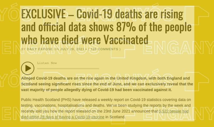 Lo que se sabe acerca de la mayoría de muertos vacunados en Escocia