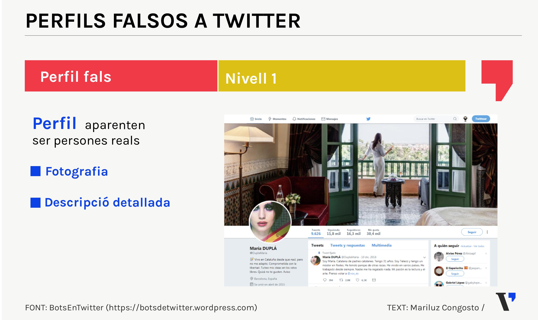perfiles falsos twitter nivel 1