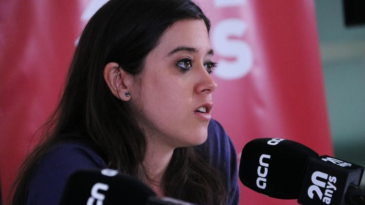 Anna Saliente, candidata a l'alcaldia de Barcelona per la CUP (Foto: ACN).