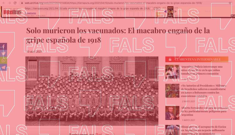 La grip espanyola no va matar només els vacunats perquè no existia cap vacuna contra la malaltia