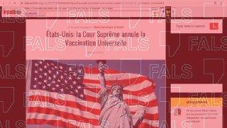 El Tribunal Suprem dels Estats Units no ha anul·lat la vacunació universal
